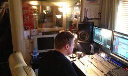 Aled working on tracks